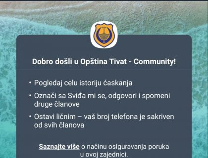 Municipality Tivat has created a Viber Community-post_thumbnail