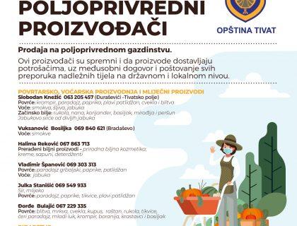Podrška malim poljoprivrednim proizvođačima iz Tivta  / Nastavlja se akcija prodaje domaćih proizvoda na kućnom pragu /-post_thumbnail